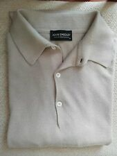 JOHN SMEDLEY BEIGE SEA ISLAND COTTON POLO SHIRT SIZE XL  GREAT CONDITION