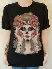 RING OF FIRE Shirt Downtown Los Angeles - Zombie Dead Girl w/Roses Mens Medium M