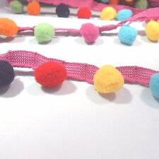 Multicoloured Pom Pom Bobble Trim from Simplicity, sold by 1/2 metre, cushions