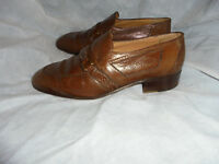 WANA MEN'S BROWN LEATHER SLIP ON SMART FORMAL SHOES SIZE UK 6 EU 40 VGC