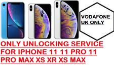 PREMIUM (blacklist supported) VODAFONE UK UNLOCKING iPHONE Supported XS XR 11