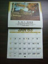 Vtg 1983 C & I Kuhn Health Food Apparel Store Wheaton Illinoise Calendar Recipe