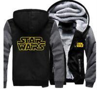 Star Wars Hoodie Zip up Jacket Coat Winter Warm Black and Gray