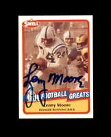 Lenny Moore Hand Signed 1989 Swell Baltimore Colts Autograph