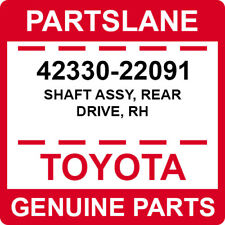 42330-22091 Toyota OEM Genuine SHAFT ASSY, REAR DRIVE, RH