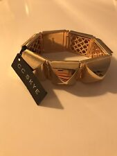 CC SKYE gold Pyramid stud cuff bracelet - genuine With Tags