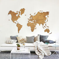 Wood Map Wall Map Home Decor Travel Map Wood Wall Art Travel Rustic Map M Size