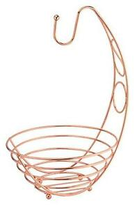 Copper Rose Gold Fruit Bowl Table Kitchen Stylish Chic Trendy Home Decoration