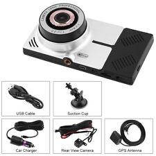 "5"" Full 1080P HD Car DVR Dual Camera Recorder 8GB Wifi GPS Dash Cam G-sensor EB"