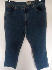 "Da Uomo Wrangler Texas Gamba Dritta Blu Jeans W 40"" Extra GAMBA CORTA 27.5"""