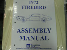 1972 72 FIREBIRD & TRANS AM (ALL MODELS) ASSEMBLY MANUAL