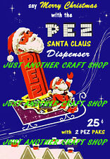 Pez Santa Claus Candy Dispenser A3 large size vintage poster advert sign leaflet