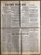 N4 La Une Du Journal L'action Française 27 Juillet 1943