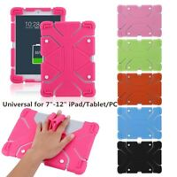 """Universal Soft Silicone Shockproof Case Cover Stand For 7"""" 8.9"""" 12'' Tablet PC L"""