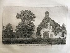 1820 Print of Refectory of Beaulieu Abbey, now Parish Church, Hampshire