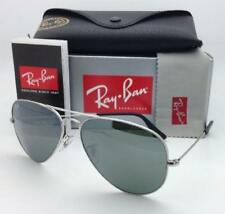 Authentic Ray-Ban Sunglasses Aviator RB3025 W3277 Silve Frame Silver Mirror 58mm
