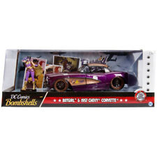 Jada 1957 Chevrolet Corvette DC Comics Bombshells with Batgirl Figure 1:24 30457