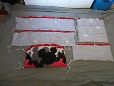 Mickey Mouse cot bumper covers set