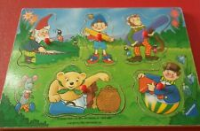 Wooden Noddy Peg Jigsaw Puzzle. Darrell Water BBC Childrens TV. Vintage 1992.