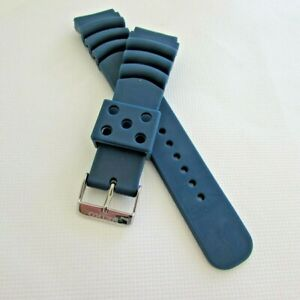 REPLACEMENT SEIKO   BLUE 22MM RUBBER  DIVERS  WATCH BAND