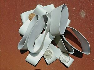 """INDUSTRIAL RUBBER BANDS SILVER  1""""Wide & 3 1/2""""Long Heavy Duty Strong 3 Dz. (36)"""