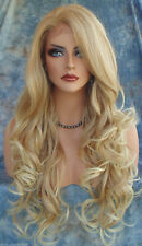 New Fashion Party Wig Sexy Women's Long Wavy Blonde Cosplay Full Wig