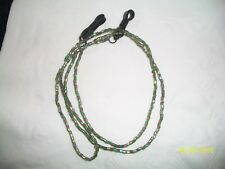 Light Green/Purple Glass Seed Bead  Eyeglass Holder Chain Necklace