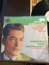Jean Sibelius Zweite Sinfonie D-Dur Op 43 LP Herbert Von Karajan (1041)