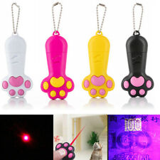 Cat Paw USB Rechargeable Laser Pointer UV Light Flashlight Toy for Pet Cat Dog