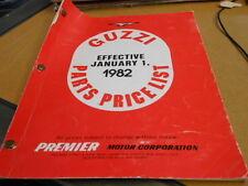 Moto Guzzi Spare Parts Price List Manual Catalog 1982