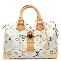 Authentic Louis Vuitton Monogram Multi Color Speedy 30 Hand Bag M92643 Used F/S