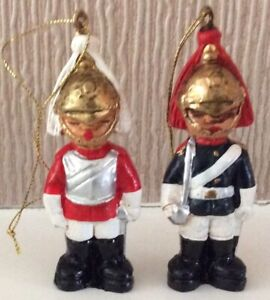 Harrods Christmas Tree Decorations In The Form Of Military Figures,Handpainted
