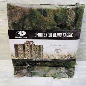 """Camouflage Hunt Blind 3D Netting Omnitex Leafy Mossy Oak BreakUp Country 12'X56"""""""