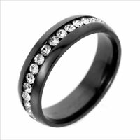 Unisex Men/Women CZ Couple Stainless Steel Wedding Ring Titanium Engagement Gift