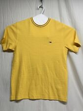 Tommy Hilfigger Yellow Waffle Knit Short Sleeved Shirt Size M