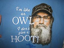DUCK DYNASTY t-shirt size M Si, I'm Like an owl, I don't give a hoot!  NEW tags