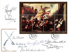 The Battle of Jersey Sheet Signed 7 Victoria Cross Holders.