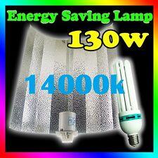 Hydroponics 130W 14000k Ultra BLUE CFL grow light kit Aluminum BatWing Reflector