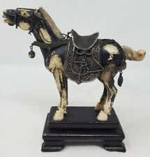 """Vintage, Antique Carved Painted Horse Statue 5"""" x 5"""" China"""