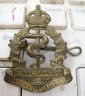 WW2 Canada Royal Army Medical Corps Officers Cap Badge Very Good
