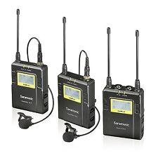 Saramonic UWMIC9 Dual UHF Wireless Lavalier Microphone System 2 Transmitters