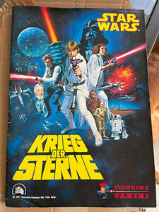 1977 Panini Star Wars Album - Complete Great condition all stickers - authentic