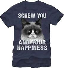 GRUMPY CAT - No Happiness T-shirt - NEW - SMALL ONLY