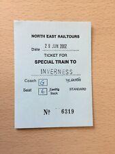 North East Railtours,  Inverness,  2002,  2,