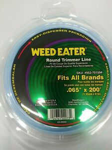 """WeedEater OEM .065"""" X 200' FOOT Round Trimmer Line Blister Pack Free Speed S&H"""
