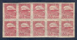 Estonia G58 MNH 1920 10v coupling CV 10 eur