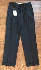 NWT 100% Italian Wool Giorgio Valentini Super 130s Size 32 San Carlo Dress Pants