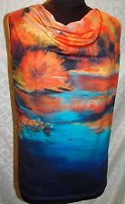 Marlee Ranchwear Jackstraw Gallery Cowl Neck Tank Top M Marjorie Lee Art
