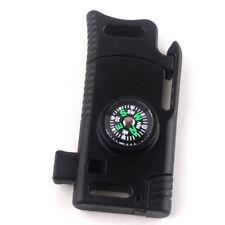EDC Outdoor Survival Tool Knife Flint Whistle Parachute Cord Buckle Abundant