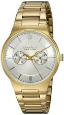 Caravelle 44A109 Gents Gold Tone Stainless Steel Day Date Watch RRP £129.00